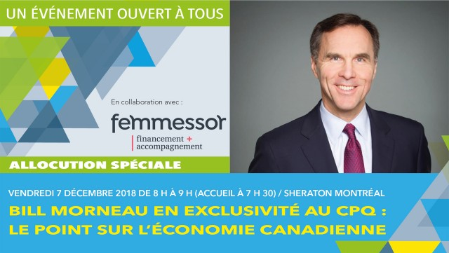 Tribune avec Bill Morneau